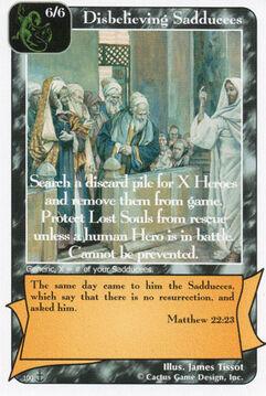 Disbelieving Sadducees (Di)