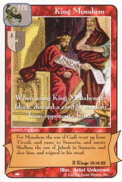 King Menahem - Kings