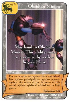 Obsidian Minion (Gold) 2 - Angel Wars