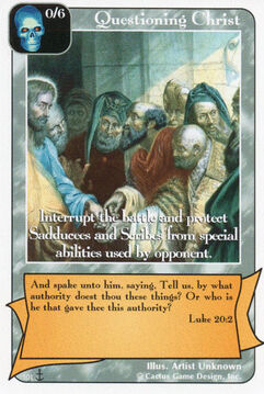 Questioning Christ's Authority (Di)