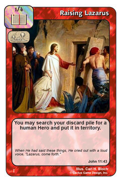 Raising Lazarus (I)