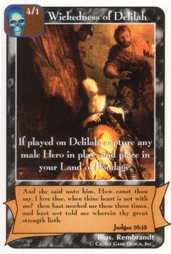 Wickedness of Delilah - Patriarchs