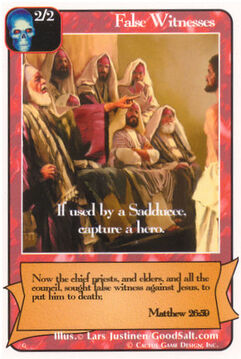 False Witnesses - G Deck