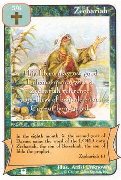 Zechariah (Pi) - Priests