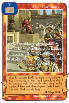 The Testimony - Kings
