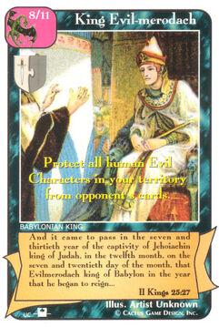 King Evil-merodach (Pi) - Priests