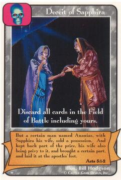 Deceit of Sapphira (Wo)