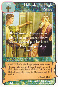 Hilkiah the High Priest (Pi) - Priests