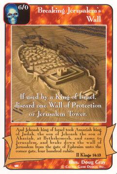 Breaking Jerusalem's Wall - Kings