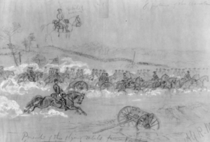 Battle of Yorktown, Pursuit sketch