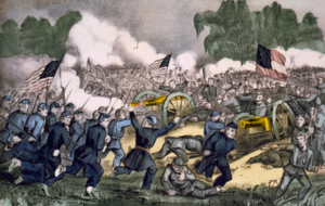 Battle of Gettysburg, by Currier and Ives