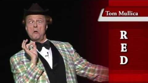 Tom Mullica as Red Skelton at The Mansion Theatre in Branson, Missouri