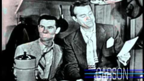 Red Skelton ties Johnny Carson to a chair in order to guest host his show