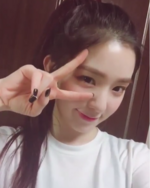 Irene post on Instagram