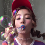 Irene blowing bubbles 2