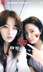 Seulgi and Yeri RV Insta Story