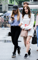 Irene and Yeri going to Music Bank 2016