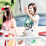 Irene and Joy walking Happiness Era
