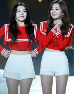 Seulgi and Irene at SBS Inkigayo Super Concert