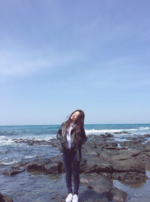 Irene by some rocks Instagram Update 2