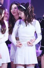 Seulgi and Irene on stage