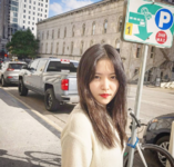 Yeri next to a street sign 2