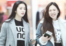 Wendy and Irene at the Airport