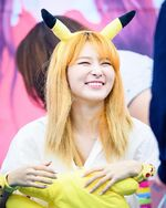 Seulgi as a Pikachu