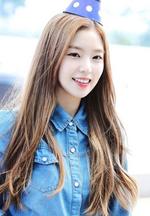 Irene wearing a blue hat