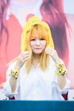 Seulgi wearing Pikachu bracelets