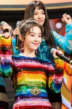 Seulgi and Irene Peek A Boo Comeback Stage SBS Inkigayo