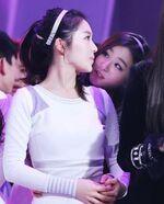 Seulgi staring at Irene