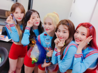Red Velvet backstage music bank 3rd win
