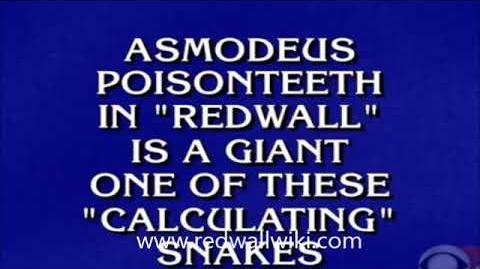 Redwall on Jeopardy - March 9, 2018