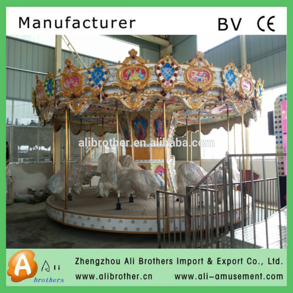 Hot Sale Amusement Park Theme fiberglass carousel