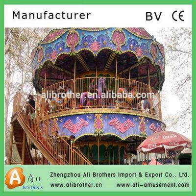 2014 hot selling Amusement park carousel horses