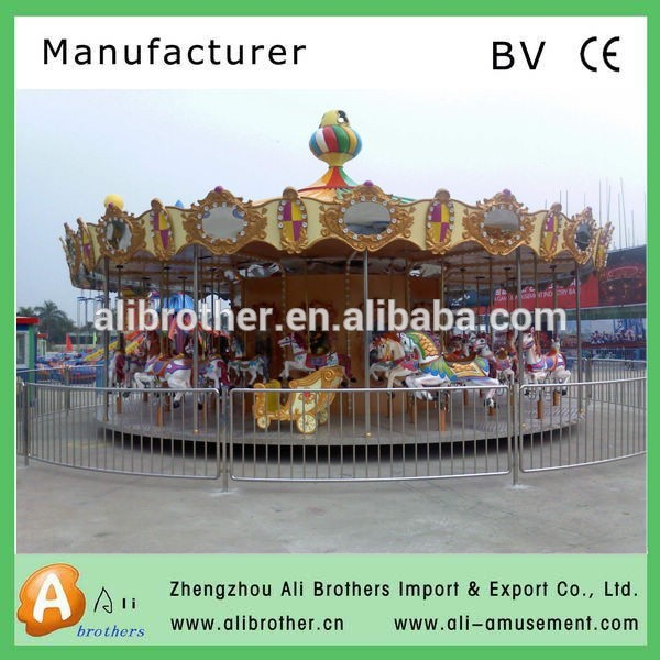 Outdoor attraction children s carousel manufacturers