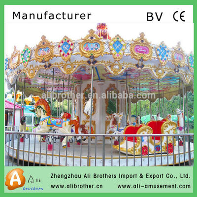 Indoor Outdoor Amusement Park 24 Seats Luxury