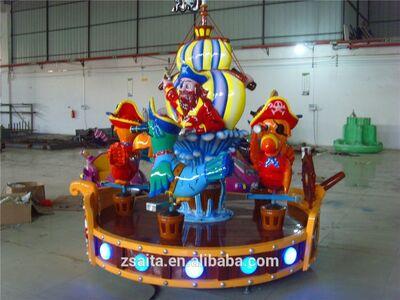 Kids attraction playground equipment carousel