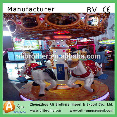 Direct manufacture top amusement mini carousel for