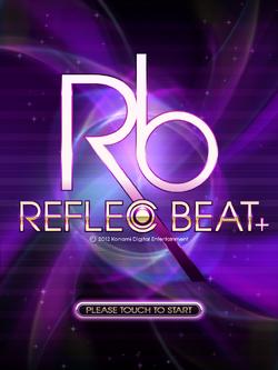 REFLEC BEAT plus (International version) - Start Screen