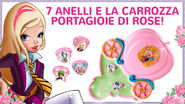 Carrozza Portagioie di Rose