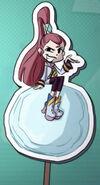 Cartoony Kira in the Credits