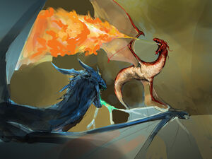 Scoria vs blue dragon