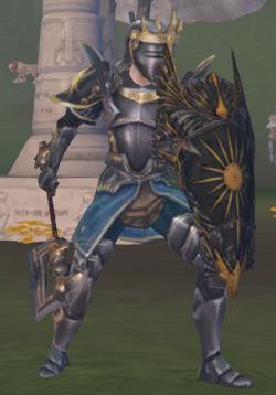 Full armed warmaster knight