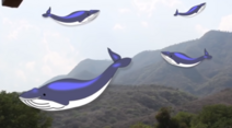 Ballenas volando