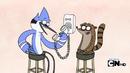 Mordecai y Rigby haciendo bromas telefonicas-Bromistas
