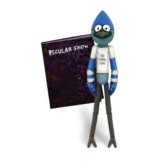 Mordecai action figure stock photo.