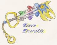 Keyblade seven emeralds by super sonic 101