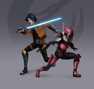 Ezra sabine rebels season 3 redesign fan art by brian snook-d96rbfc